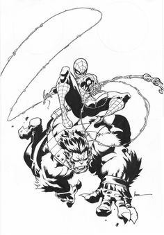Spider-Man and Beast by Kaare Andrews *