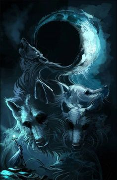 My spirit is a wolf, they my seem to have no eyes but some times you don't need eyes to see what people really are... you can feel it, in your heart.