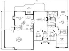 And 2 3 Bath 3 Garage Stalls By Monster House Plans Plan 44 148