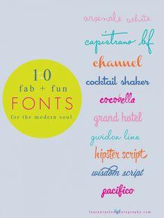 10 Modern Script Fonts #fonts #modern #free #cursive #design