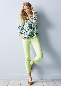 crown & ivy™ crown & ivy™ Mix and Match Bold, Bright Peasant Top Collection