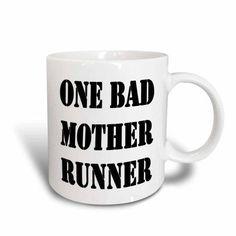 3dRose One bad mother runner, Ceramic Mug, 15-ounce