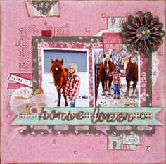 Laine Is A Horse Lover - Carta Bella Giddy Up Girl Collection