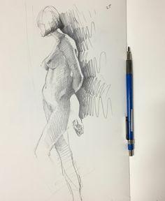Figure sketch by Sarah Sedwick. 3.5.16. #art #drawing #sketchbook #nude