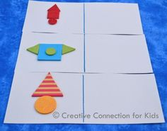 Have child copy design with foam shapes on R side