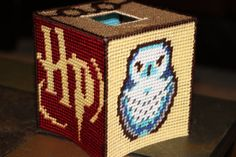 Harry Potter Tissue Box Cover by The8BitTissueBox on Etsy, $20.00