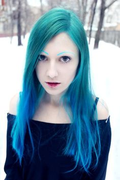 I love this shade of blue for hair