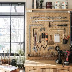 yupinokoさんの、棚,DIY,アトリエ,壁面収納,有孔ボード,セルフリノベーション,現状回復,工具収納,のお部屋写真
