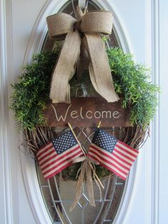 Patriotic Wreath - 4th of July Wreath - Summer Wreath - American Wreath