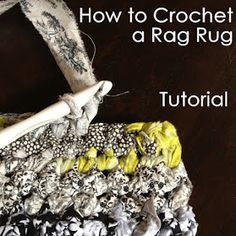How to crochet a rag rug tutorial - I've made these from t-shirts and from some . How to crochet a rag rug tutorial – I've made these from t-shirts and from some pants – defin Yarn Projects, Crochet Projects, Crochet Tutorials, Crochet Stitches, Crochet Patterns, Rag Rug Tutorial, Do It Yourself Baby, Knitting Blogs, Knitting Room
