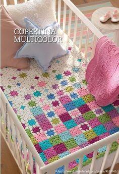 Transcendent Crochet a Solid Granny Square Ideas. Inconceivable Crochet a Solid Granny Square Ideas. Granny Square Häkelanleitung, Granny Square Crochet Pattern, Crochet Granny, Crochet Baby, Granny Squares, Crochet Heart Blanket, Crochet Stars, Crochet Blanket Patterns, Knit Patterns