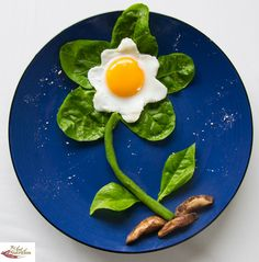 Fun food egg flower