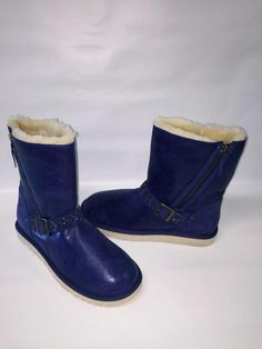 eb426cfbc0 UGG BLAISE BLING CRYSTAL INK BLOT BLUE LEATHER WOMENS BOOTS US 11 ~NWOB~SAVE