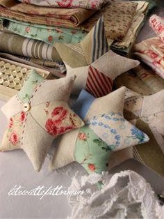 Star tutorial - pin cushions, ornaments, garlands, etc.