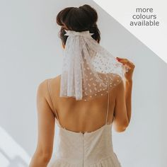 Cute bow bridal veil - the Heartfelt Blusher Veil from Crown and Glory - The Wedding A-List - Affordable wedding planning for cool brides Wedding Trends, Wedding Styles, Short Veil, Short Wedding Veils, Hampden Clothing, Blusher, Wedding Hair Accessories, Wedding Hairstyles, Marie