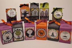 Got Treats? by - Cards and Paper Crafts at Splitcoaststampers Dulceros Halloween, Halloween Favors, Halloween Projects, Halloween Cards, Holidays Halloween, Halloween Treats, Halloween Frames, Vintage Halloween, Halloween Makeup