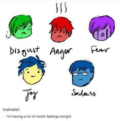 Nordic 5 as Inside out's characters - Pretty accurate tho