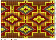 Tapestry Crochet Patterns, Woven Chair, Native Design, Chart Design, Boho Bags, Graph Paper, Beaded Bags, Bead Crochet, Pattern Fashion