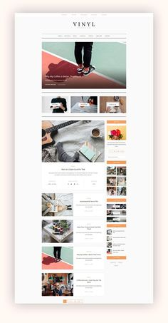WordPress Theme Blog - Vinyl by AZ-Theme on @creativemarket