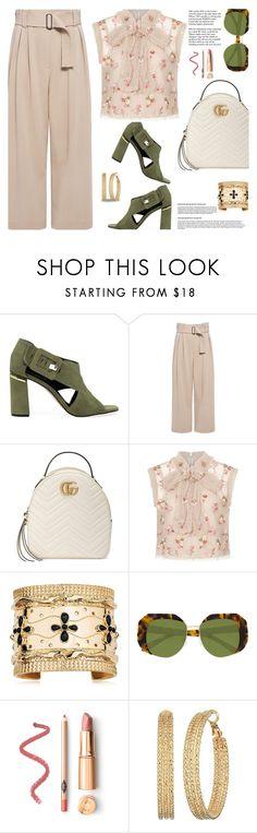 """Work Wear..."" by unamiradaatuarmario ❤ liked on Polyvore featuring M4D3, A.L.C., Gucci, Needle & Thread, Aurélie Bidermann, Karen Walker, Tiffany & Co. and GUESS"