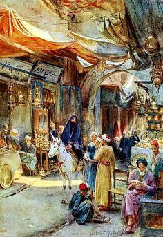 #خان_الخليلي للفنان الانجليزي ووتر تيندال   Khan El Khalili in #Cairo by Walter…