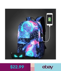 ed4f743f040b Women s Bags  amp  Handbags Galaxy School Bag Backpack Collection Canvas  Usb Charger For Teen Girls
