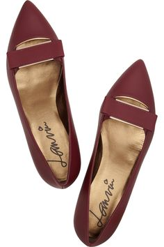 Leather point-toe flats | Lanvin | 50% off | US | THE OUTNET