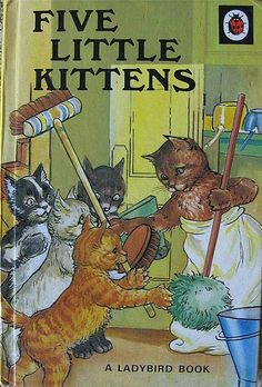 Five Little Kittens - vintage Ladybird book 'Mrs Tibbit going shopping wasn't pleased enough to purr. 'Kittens please!' She said quite crossly 'How can Mummy brush her fur? Oh how I remember reading this! Now to search for one :) 1970s Childhood, My Childhood Memories, Baby Memories, Ladybird Books, Vintage Children's Books, Vintage Cat, Vintage Posters, Little Golden Books, Little Kittens