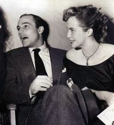 Gene Kelly and his wife Betsy
