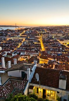 "Lisbon Sunset - Love to #travel to #Lisbon? Add this in your #bucketlist. Visit ""City is Yours"" http://www.cityisyours.com/explore to discover amazing bucket lists created by local experts."