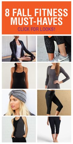 I've compiled a list of eight must-have fitness fashion pieces that will keep you warm and super stylish this fall.