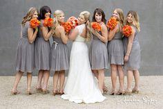 Grey and orange wedding Brittney & Ryan   Novelty Hill Januik Winery Wedding - Soper Photography