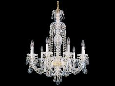 Shop this schonbek sterling nine-light wide chandelier from our top selling Schonbek chandeliers. LuxeDecor is your premier online showroom for lighting and high-end home decor. Schonbek Chandelier, Victorian Decor, French Chateau, Shabby Chic Decor, Ceiling Lights, Lighting, Homework, Dining Room, Feminine