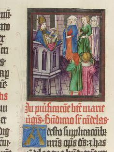 Pontifikale Adolfs II. Erzbischof von Mainz, vor 1474 Meister der Gauklerszene im Hausbuch Blatt145v