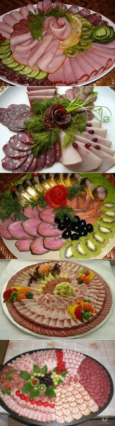 liveinternet.ru Luncheon Recipes, Plateau Charcuterie, Meat Fruit, Appetizer Sandwiches, Meat Platter, Party Trays, Food Platters, Catering Food, Finger Food Appetizers