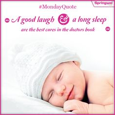"""#MotivationaQuote : """"A good laugh and a long #Sleep are the best cures in the doctor's book""""."""