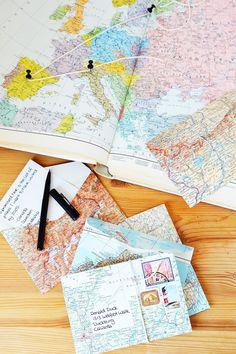 DIY World Map Envelopes | Motte's Blog | Template