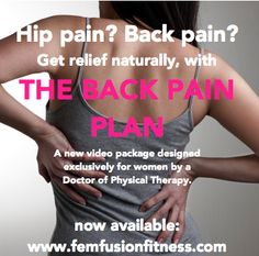 Three digital videos and a program guide with resources and informative links... Let this be YOUR YEAR to feel better. http://femfusionfitness.com/product/relieve-back-pain/