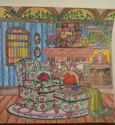The page I colored out of 'The World of Debbie Macomber:Come Home to Color'