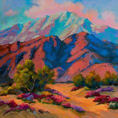 53 Ideas Painting Landscape Mountain Erin Hanson For 2019 Landscape Quilts, Landscape Art, Landscape Paintings, Landscape Photography, Erin Hanson, River Painting, Painting & Drawing, Colorful Mountains, Mountain Art