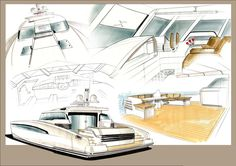 Superyacht Sketches | Tony Castro Yacht Design