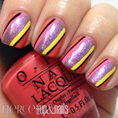 The Digit-al Dozen does Brands: OPI Brazil Striped Mani - Fierce Makeup & Nails