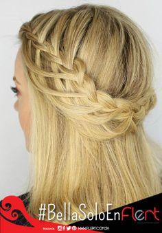 Peinado con trenza. ¡Lista para lucir este original peinado con trenza! Cuantas dicen que si con un like. #BraidDay #Atrévete.
