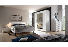 Your bed is the center of your bedroom, and the Helvetia Harmony White Gloss Full Platform Bed is definitely a piece that will earn that prominent. Wardrobe Furniture, Modern Bedroom Furniture, Bedroom Decor, Bedroom Ideas, Large Wardrobes, Full Platform Bed, Beautiful Bedrooms, Interior Design Inspiration, House
