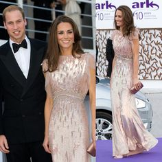 Kate Middleton in Sequin Pink Jenny Packham Dress | hmmm she does have style and class!