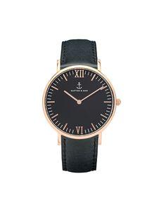 """Campina """"All Black Vintage"""" - Watches All Black, Black And Brown, Kapten & Son, Vintage Leather, Vintage Black, Black Mesh, Vintage Watches, Bracelet Watch, Gold"""