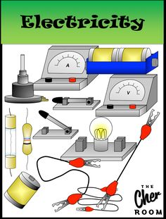 Science Cliparts: Electricity  Get it from The Cher Room @ Teachers Pay Teachers!