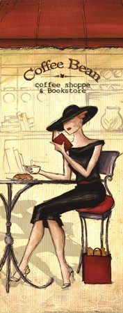 Cafe by Andrea Laliberte art print