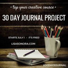 The 30 Day Journal Project is a FREE challenge to help you tap your creative source and make something you love. #30DAYJOURNAL