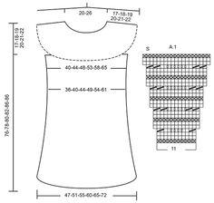 """Cornelia - Robe DROPS avec point de vagues, empiècement arrondi et raglan, en """"Paris"""". Se tricote de haut en bas. Du S au XXXL. - Free pattern by DROPS Design"""